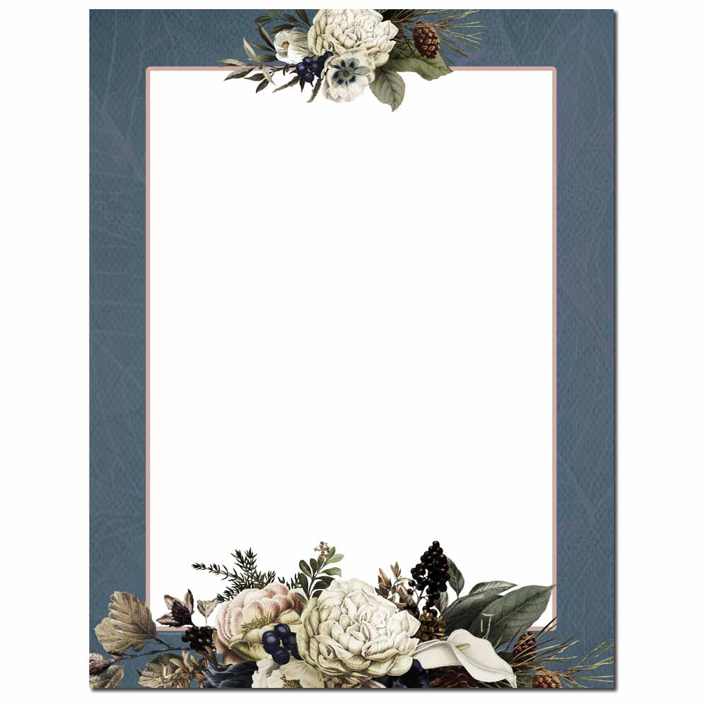 Winter Bouquet Letterhead - 100 pack