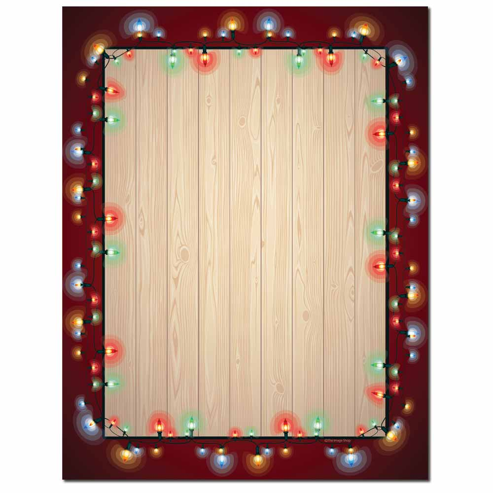 Garland of Lights Letterhead - 100 pack