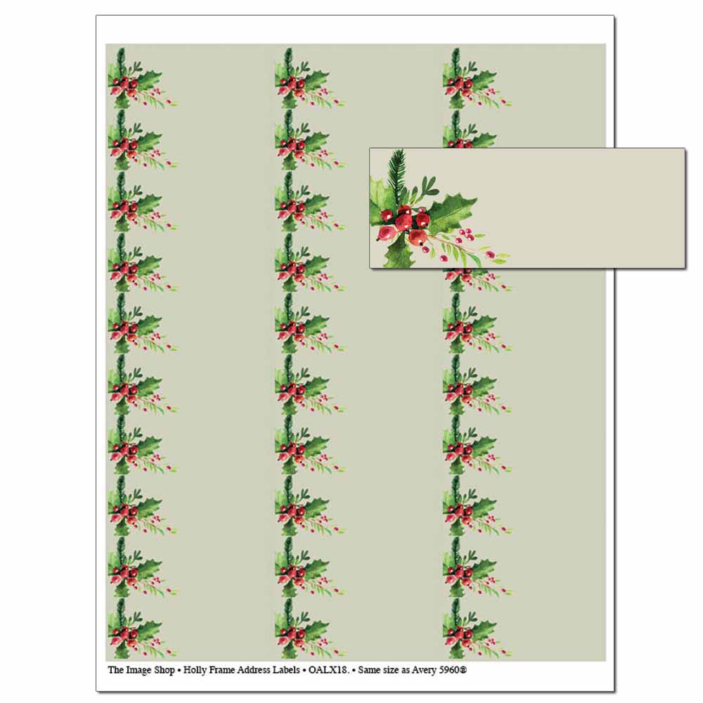 Holly Frame Address Labels