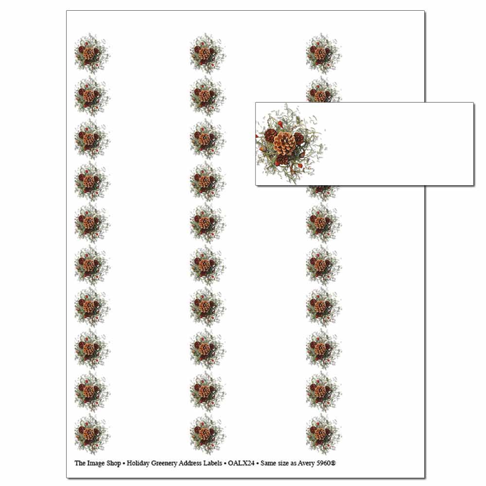 Holiday Greenery Address Labels