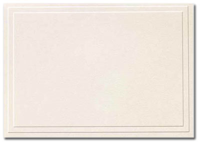 Triple Embossed Ivory Note Cards