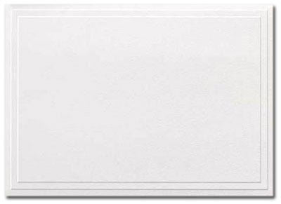 triple embossed white note cards - Note Cards