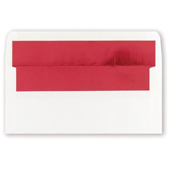 White Red Foil Env. 25pk.