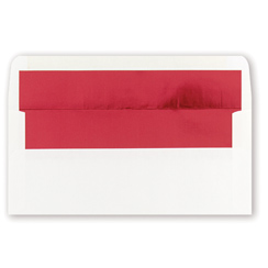 White Red Foil Env. 25pk.