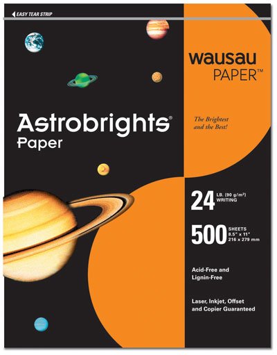 Cosmic Orange Letterhead - 100 pack
