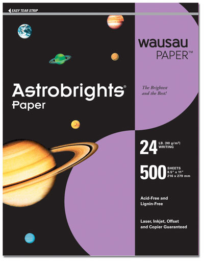 Planetary Purple Letterhead - 100 pack