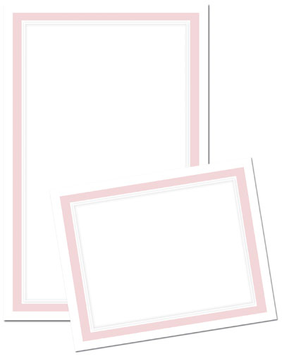 Pink Border Invitation & Response Card Kit