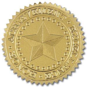 Star Foil Seals