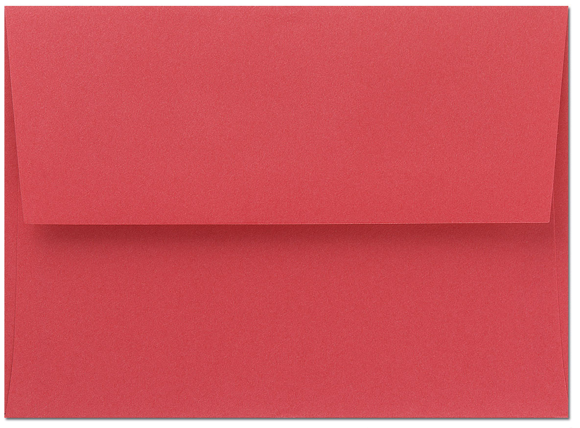 Bright Red A9 Envelopes