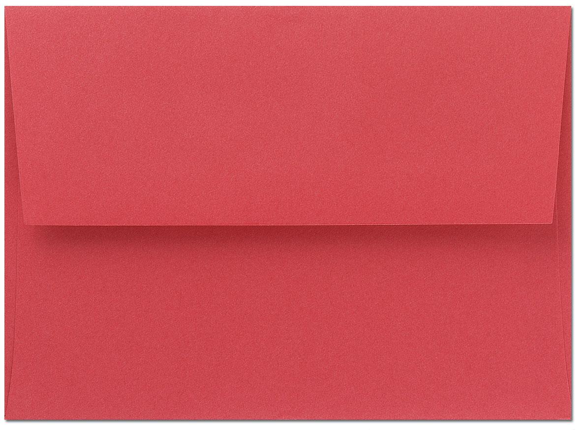 Bright Red A9 Envelopes