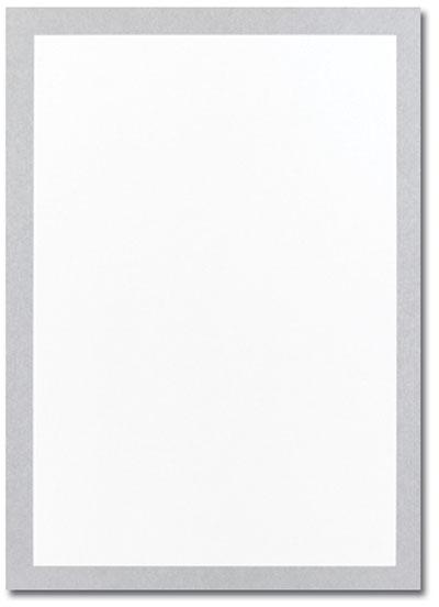 Metallic Silver Flat Card