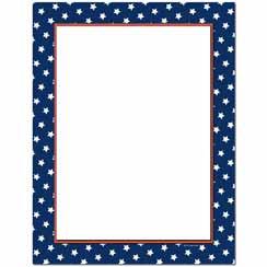 American Stars Letterhead - 25 pack