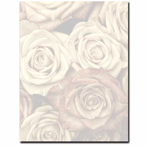 Antique-Rose-Letterhead-Floral-Paper