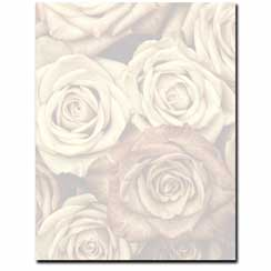 Antique Roses Letterhead - 100 pack