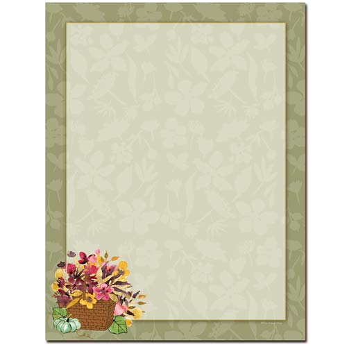 Autumn-Basket-Thanksgiving-Letterhead-Paper