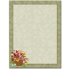 Autumn Basket Letterhead - 100 pack
