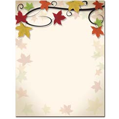 Autumn Vine Letterhead - 100 pack
