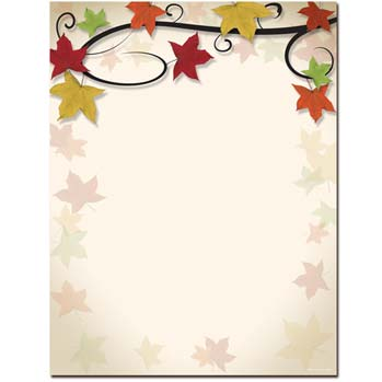 Autumn Vine Letterhead