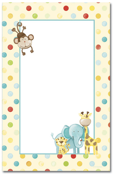 Baby Zoo Animals Jumbo Cards