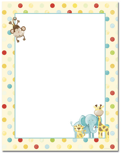 Baby Zoo Animals Letterhead