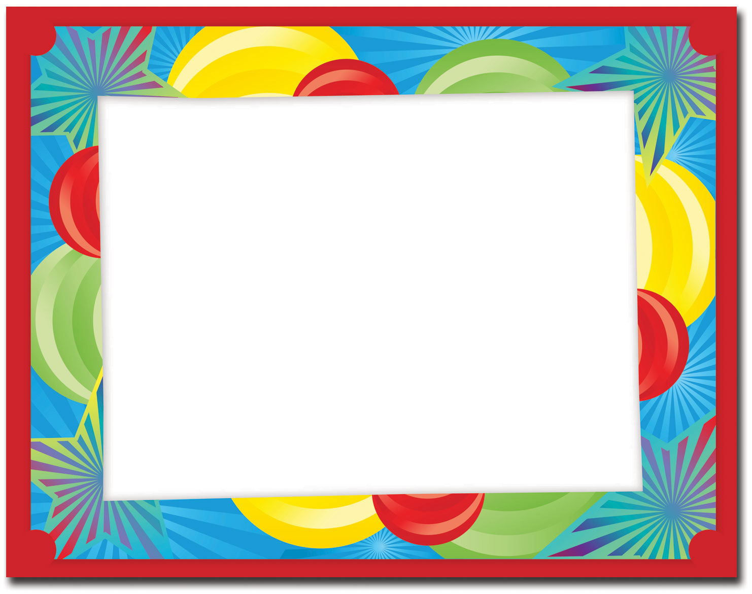 3-D Balloon Blast Certificate Frame, Certificates: The Image Shop