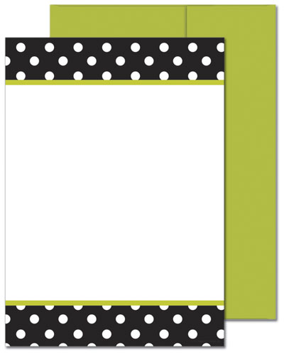 Black & White Dots Flat Card