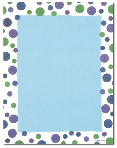 Blue & Green Dots Letterhead