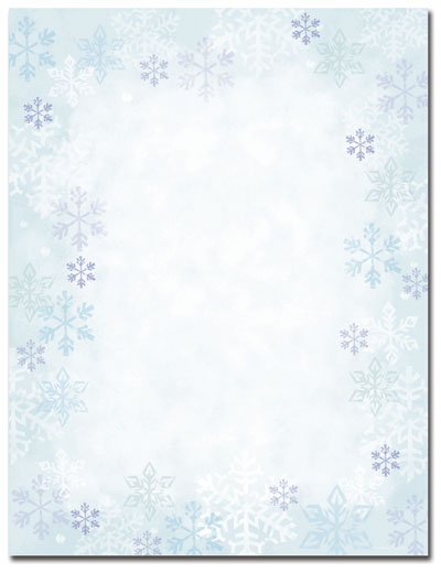 Blue Flakes Letterhead - 25 pack