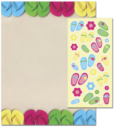 Bright Flip Flops Letterhead