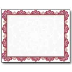 Burgundy Medallion Certificate - 25 Pack