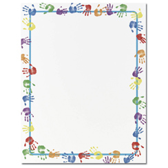Baby Handprints Letterhead - 25 pack