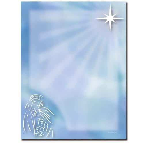 baby jesus religious christmas paper letterhead