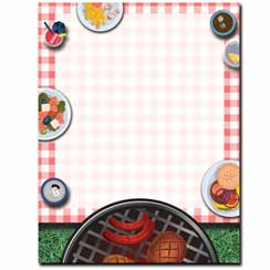 Backyard BBQ Letterhead - 25 pack
