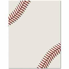 Baseball Letterhead - 25 pack