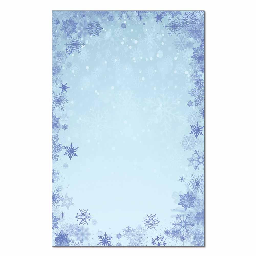 Blue Snowflakes Jumbo Card, 48pk