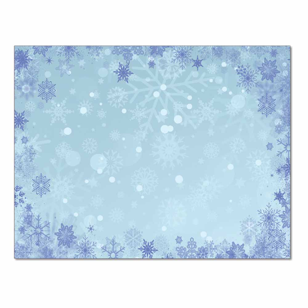 Blue Snowflakes Post Cards, 48pk