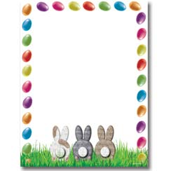 Easter Bunny Stationery Letterhead