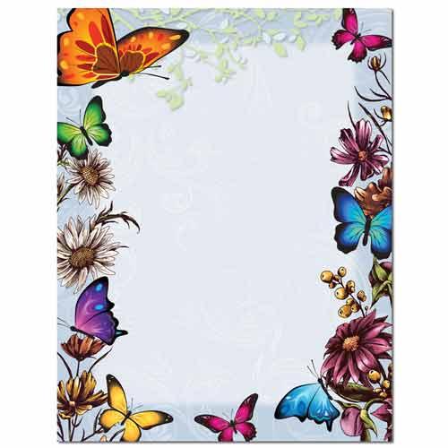 Butterflies Letterhead Paper