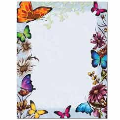 Butterflies Letterhead - 100 pack