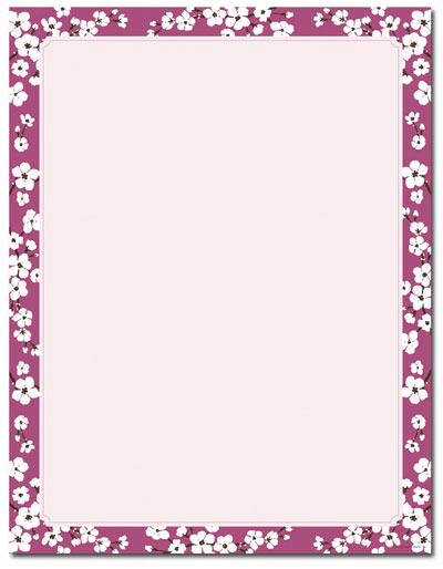Cherry Blossoms Letterhead - 80 pack