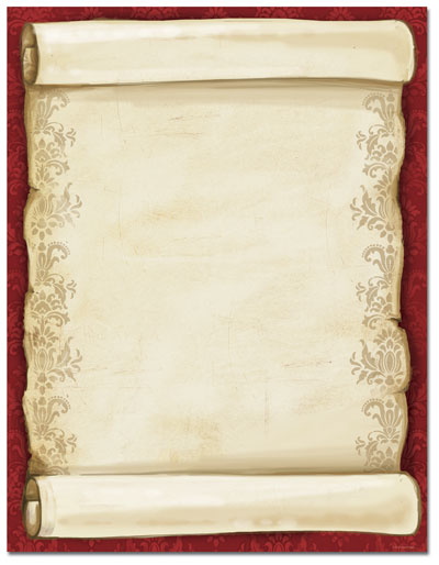 Christmas Scroll Letterhead - 80 pack