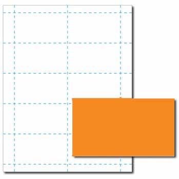 Cosmic Orange Business Cards