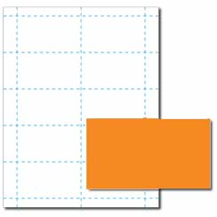 Blank Bright Business Cards, 65lb