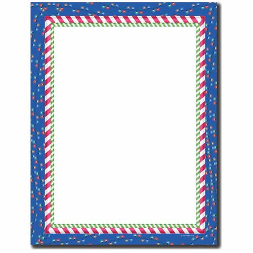 Candy Cane Lights Letterhead