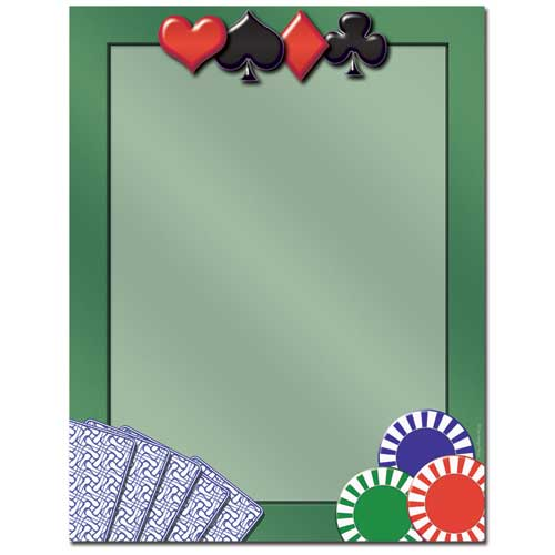 Card-Games-Poker-Letterhead-Paper