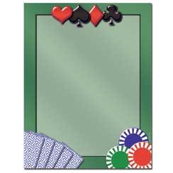 Card Games Letterhead - 25 pack