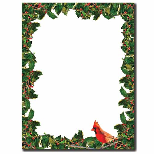 Cardinal-and-Holly-Holiday-Border-Paper
