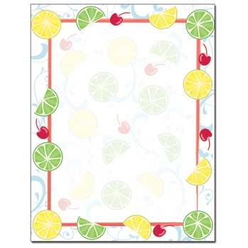 Cherry Limeade Letterhead