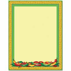 Chili Peppers Letterhead - 25 pack