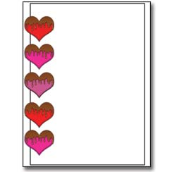 Chocolate Covered Hearts Letterhead - 100 pack